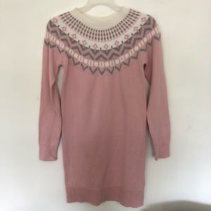 4/$20 Gap Kids Sweater Raglan Dress Pink XL